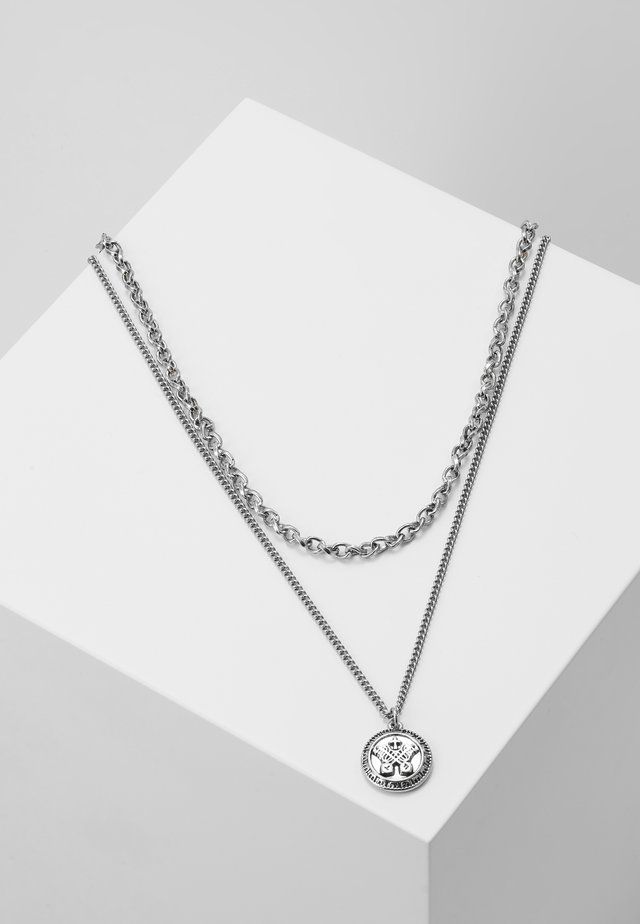 IN WFTW WE TRUST LAYERED NECKLACE - Naszyjnik - silver-coloured