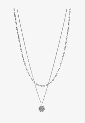 IN WFTW WE TRUST LAYERED NECKLACE - Collana - silver-coloured