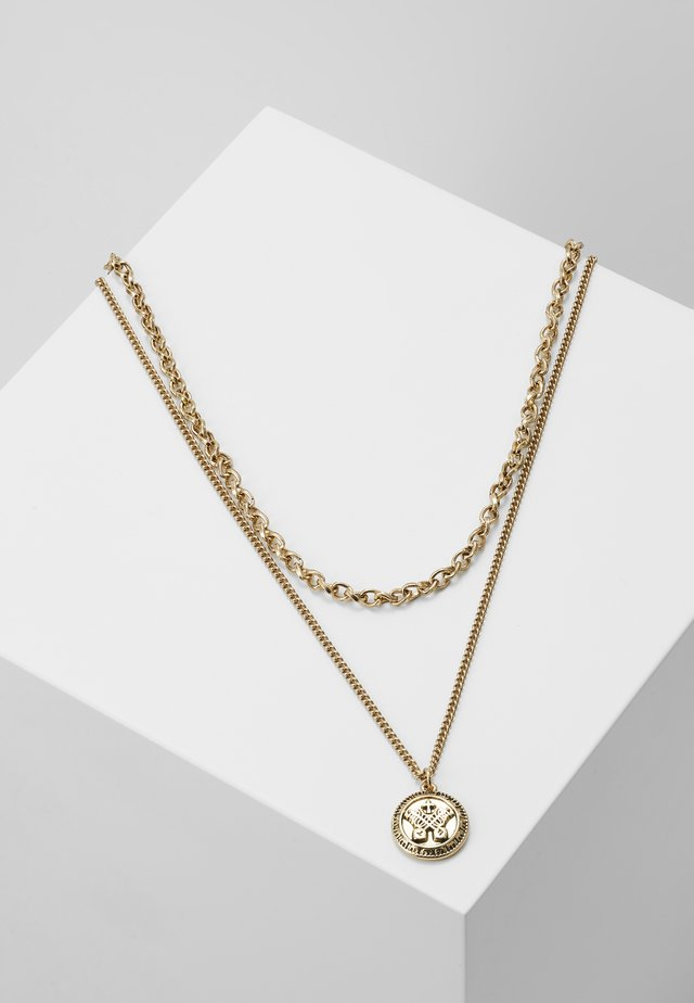 IN WFTW WE TRUST LAYERED NECKLACE - Naszyjnik - gold-coloured