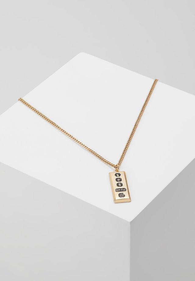TRIPLE SYMBOL PENDANT - Necklace - gold-coloured