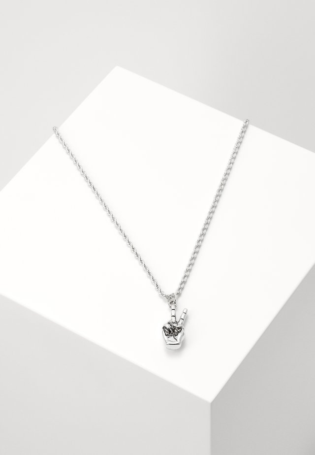 PEACE HAND NECKLACE - Necklace - silver-coloured