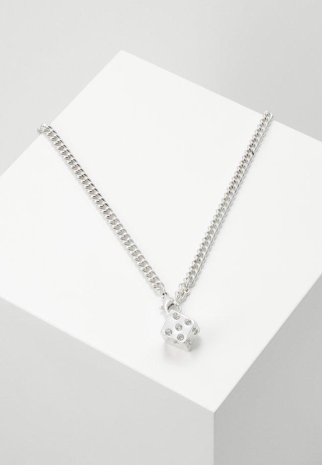 DICE NECKLACE - Náhrdelník - silver-coloured