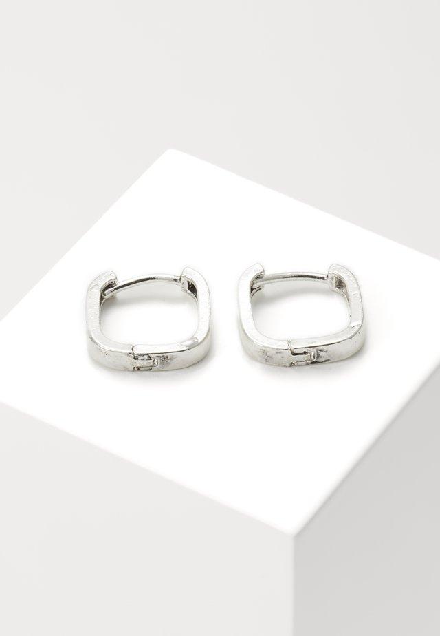 SQUARE HOOP EARRINGS - Náušnice - silver-coloured