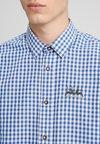 Wiesnkönig - HIRSCH - Hemd - weiss blau