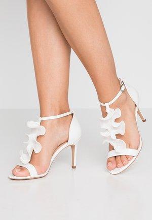 PETAL - High heeled sandals - white