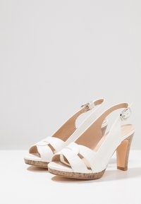 Wallis - SANTANA - High heeled sandals - white - 4