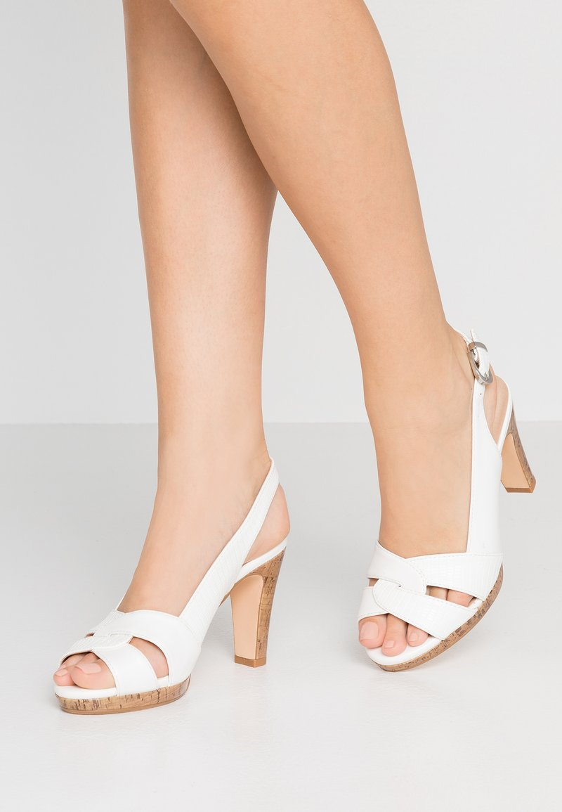 Wallis - SANTANA - High heeled sandals - white
