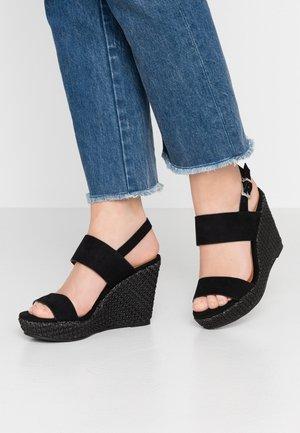SHARA - Korolliset sandaalit - black