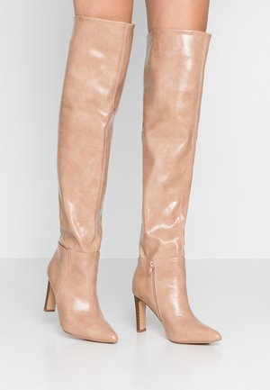 PUZZLE - High heeled boots - nude
