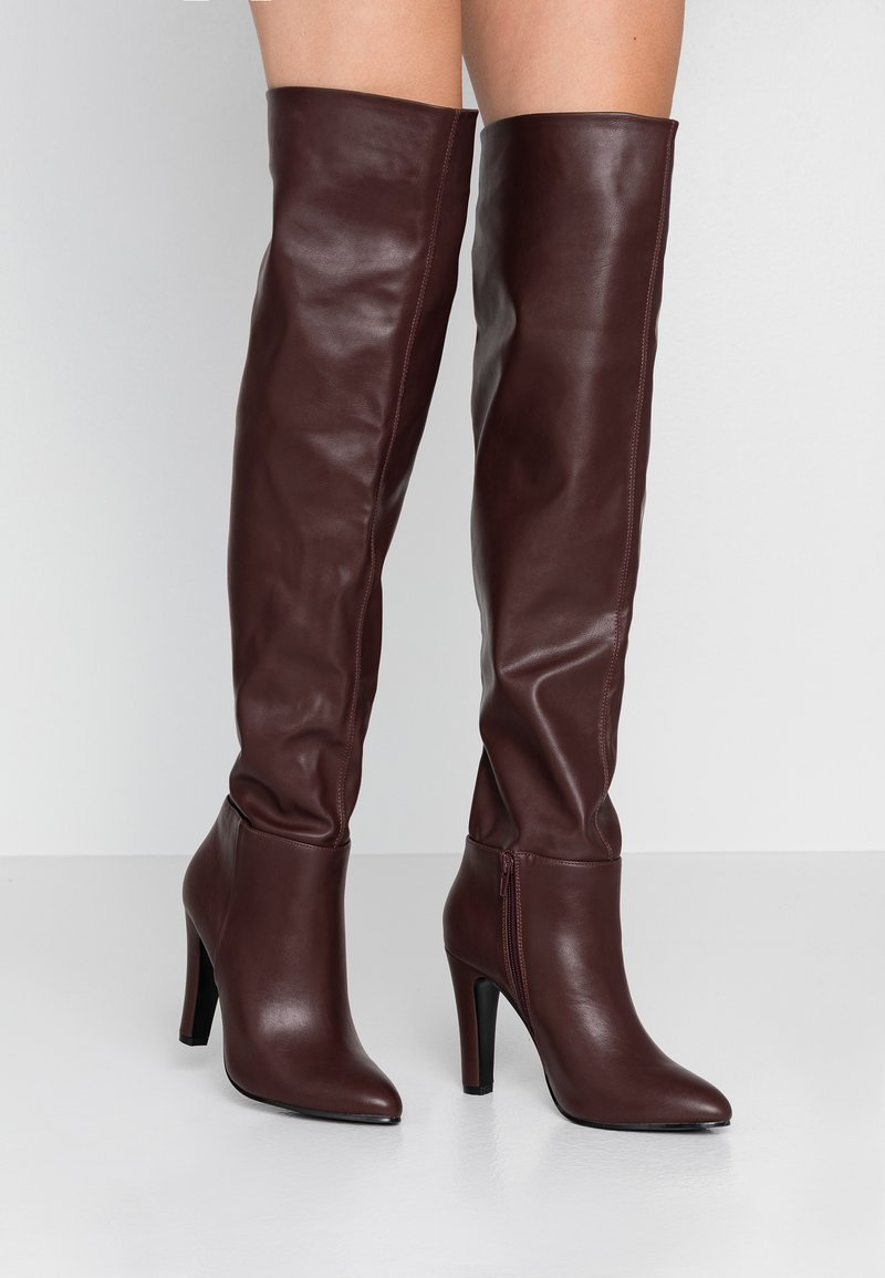 Wallis - PINOT - Boots med høye hæler - mulberry