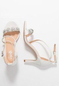 Wallis - SANTIAGO - High heeled sandals - white shimmer - 3