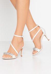 Wallis - SANTIAGO - High heeled sandals - white shimmer - 0