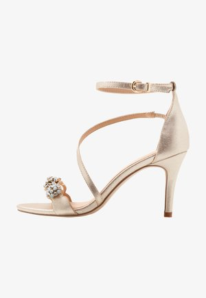 SANTIAGO - High Heel Sandalette - gold shimmer