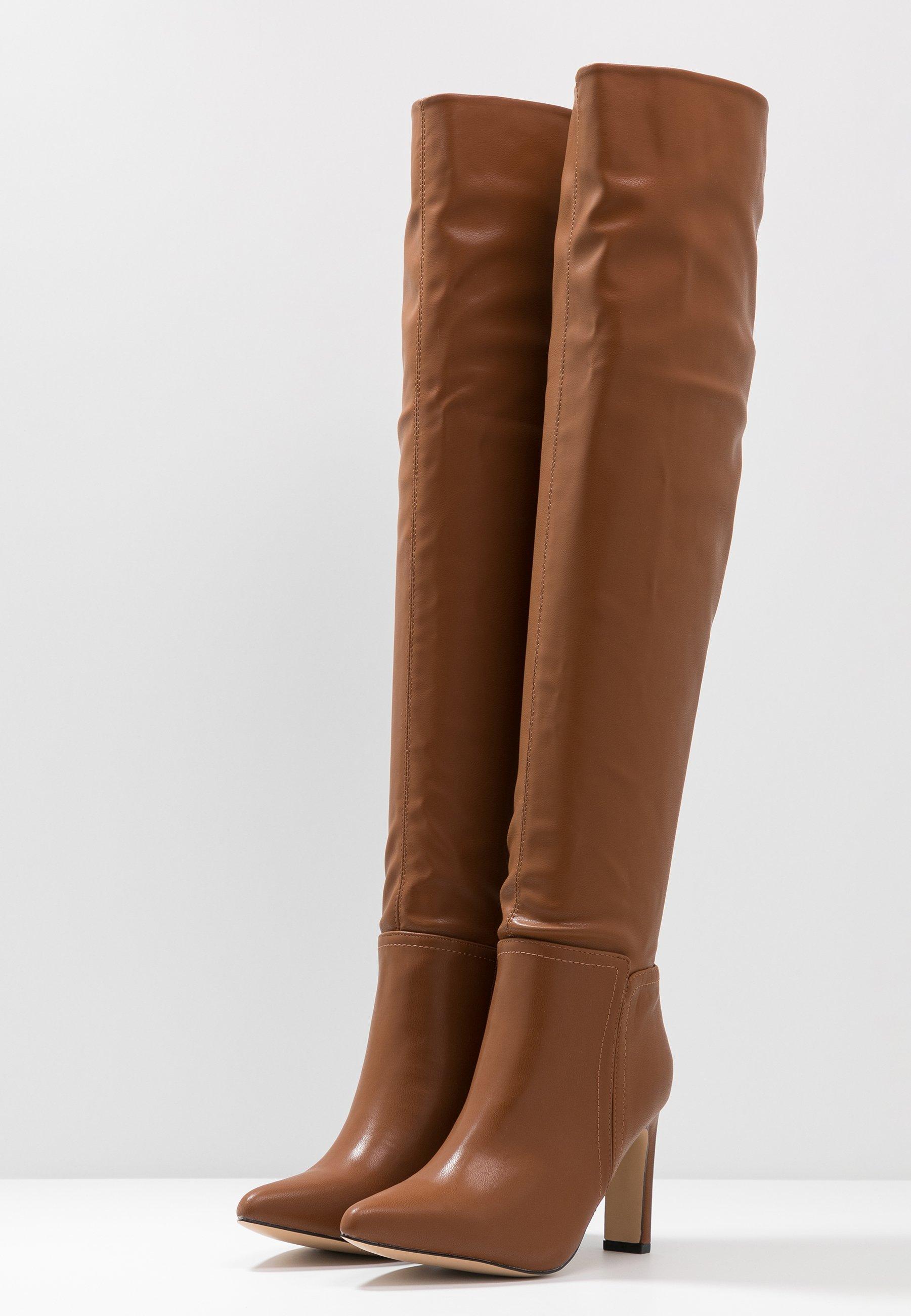 Wallis PUZZLE - Boots med høye hæler - tan