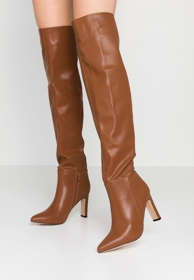PUZZLE - High heeled boots - tan