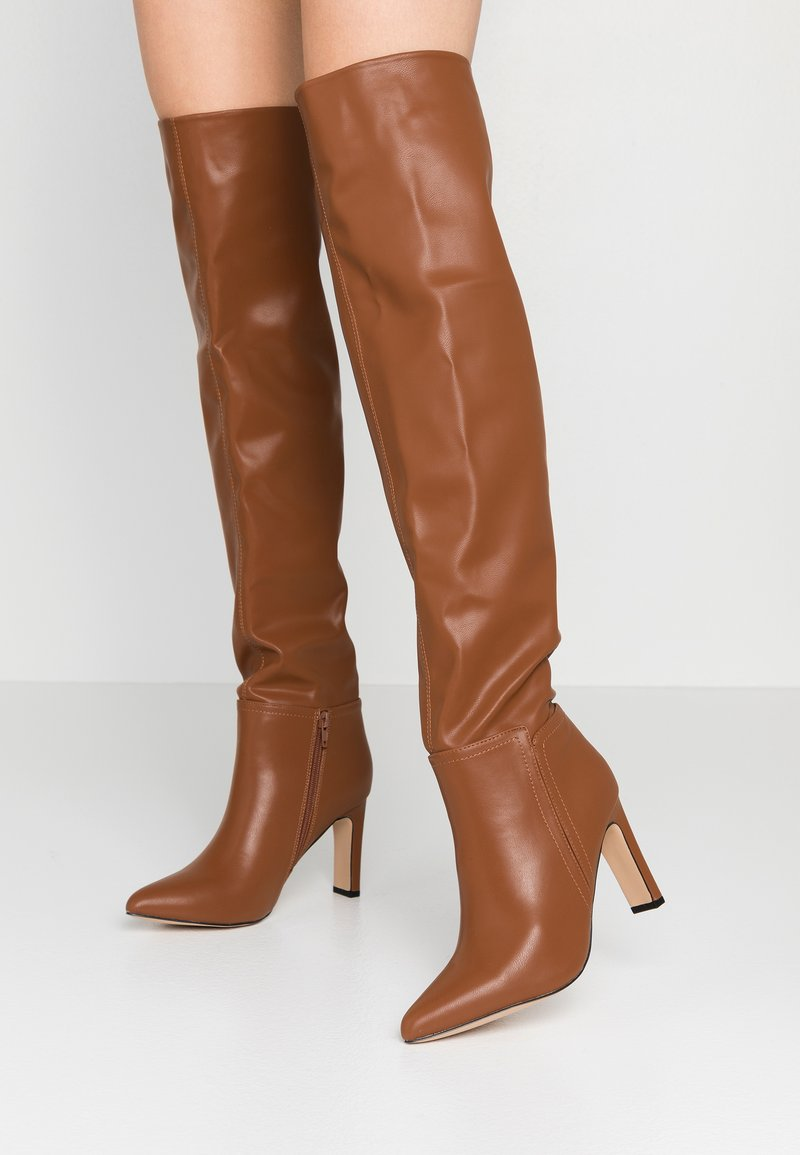 Wallis - PUZZLE - High heeled boots - tan