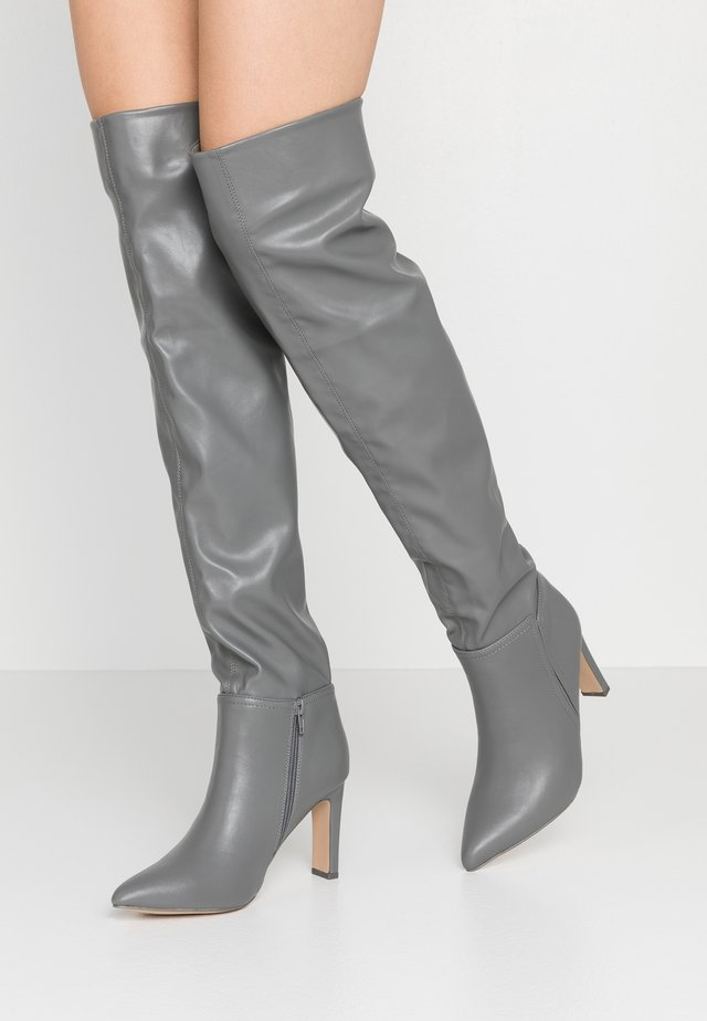 PUZZLE - High heeled boots - grey
