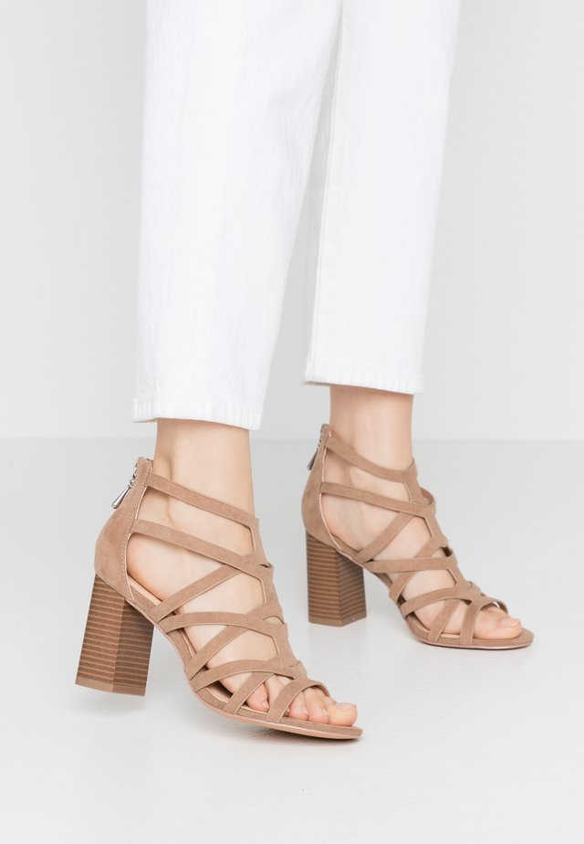 SCILLA - High heeled sandals - taupe