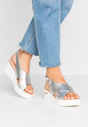 SUNDIAL - Platform sandals - silver