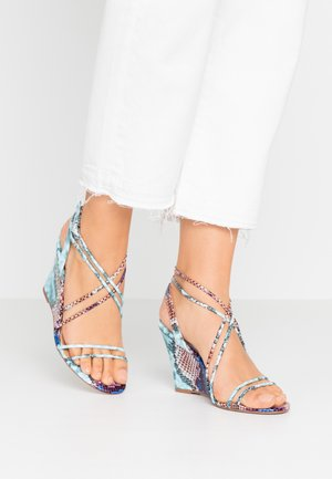 SIAMESE - High heeled sandals - multicolor