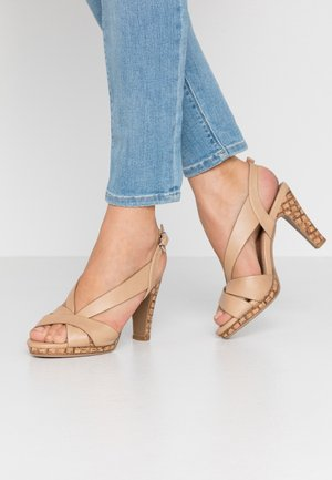 STARLING - High heeled sandals - beige