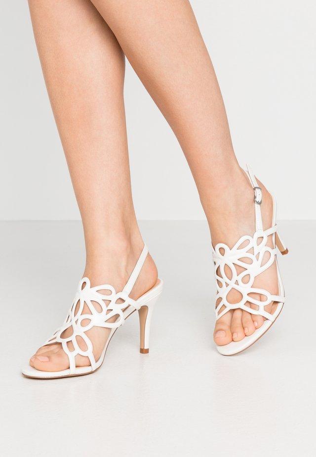 SEASONER - High heeled sandals - white