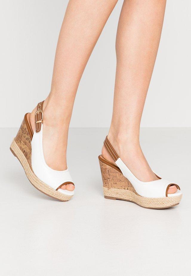 SWAN - Sandalen met hoge hak - white