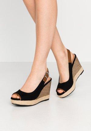 SWAN - Sandalen met hoge hak - black