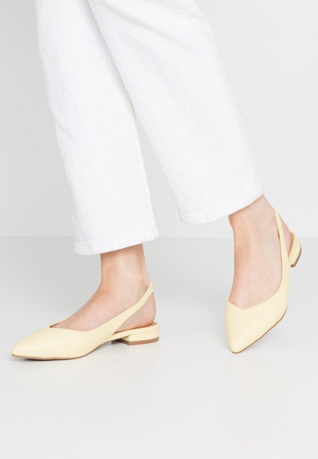 BAY - Slingback ballet pumps - lemon