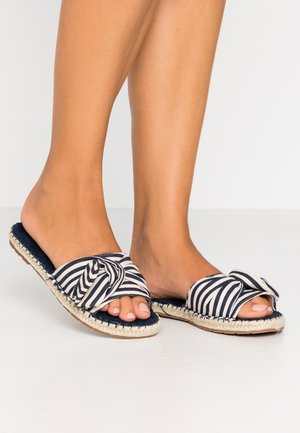 SILK - Mules - navy stripe