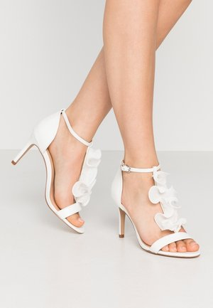 PETAL - High heeled sandals - white