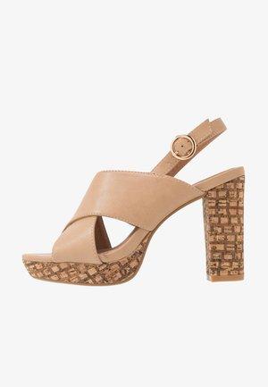 SORAYA - High heeled sandals - nude