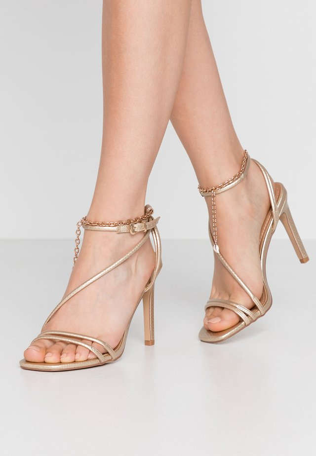 PATTI - High heeled sandals - gold