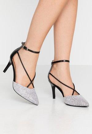 CECILIA - Classic heels - black/white