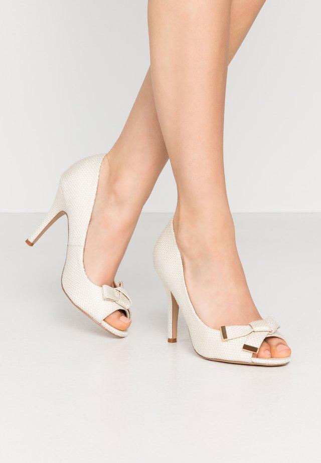 CELESTIA - Peeptoe heels - offwhite