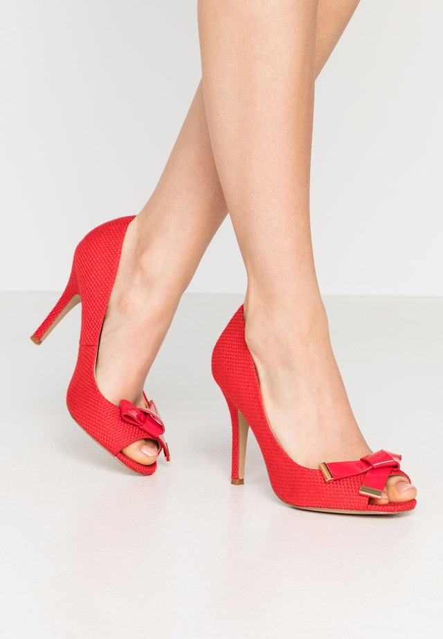 CELESTIA - Højhælede peep-toes - raspberry