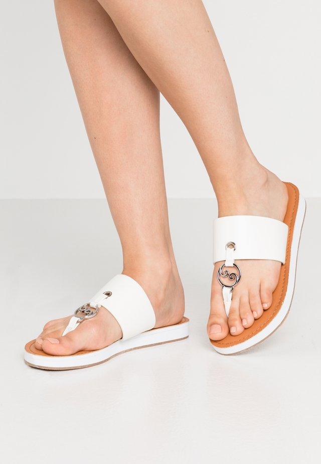 SYMPHONIC - T-bar sandals - white