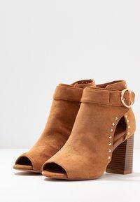 Wallis - SHERLOCK - High heeled ankle boots - tan - 4