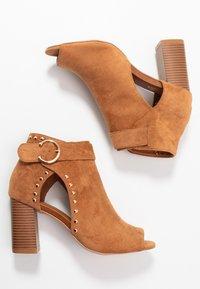 Wallis - SHERLOCK - High heeled ankle boots - tan - 3