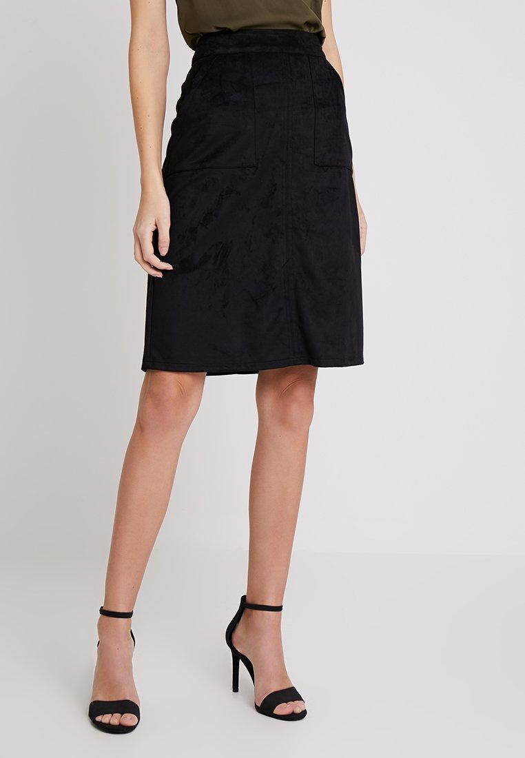 Wallis - A-snit nederdel/ A-formede nederdele - black