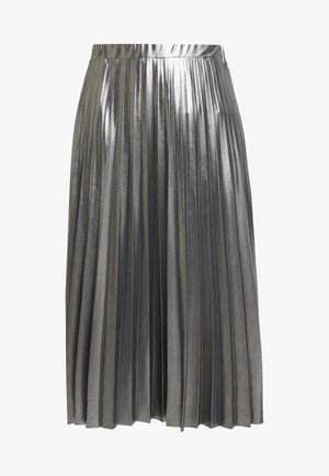 PLEATED SKIRT - Jupe trapèze - silver