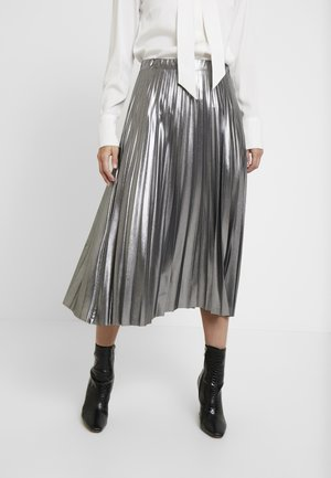 PLEATED SKIRT - A-line skirt - silver