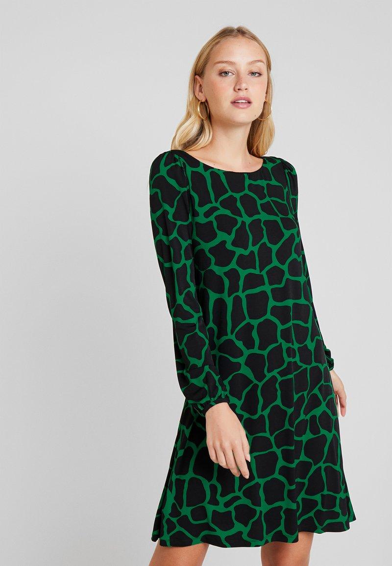 Wallis - GIRAFFE SWING DRESS - Jersey dress - green
