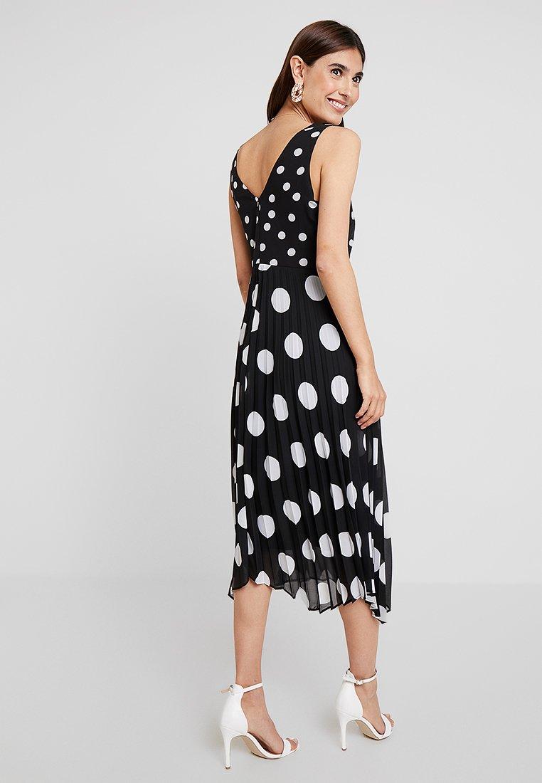 YAS Tall Yasnicole Dress - Maksimekko Naiset Dark Sapphire/with Creme Dots Vaatteet Mekot Maksimekot Ostaa