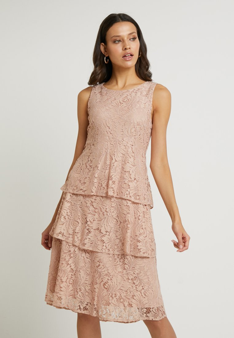 Wallis - TIERED DRESS - Cocktailkleid/festliches Kleid - dusky pink