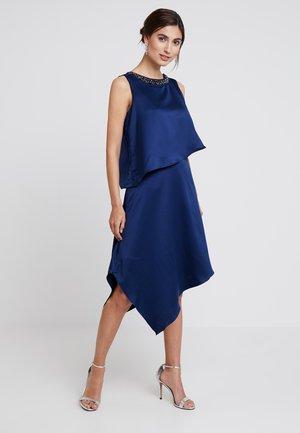 EMBELLISHED OVERLAYER DRESS - Robe de cocktail - ink