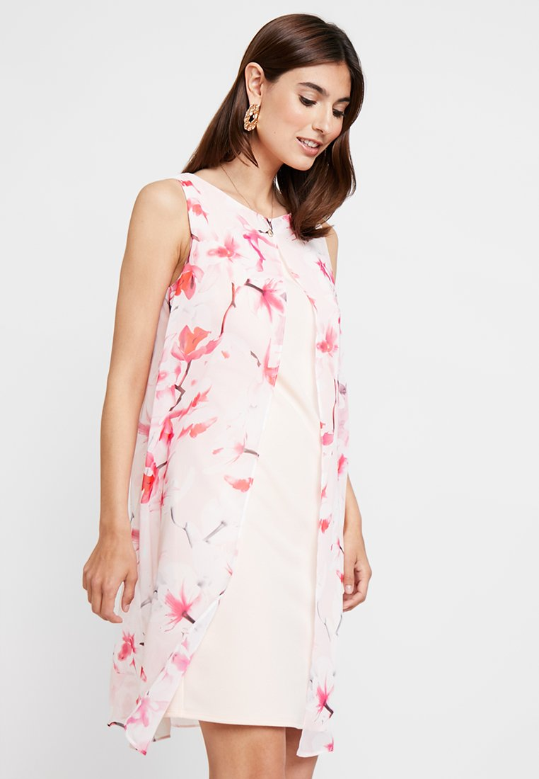 Wallis - BLUSH MAGNOLIA SPLIT FRONT DRESS - Cocktailjurk - pink