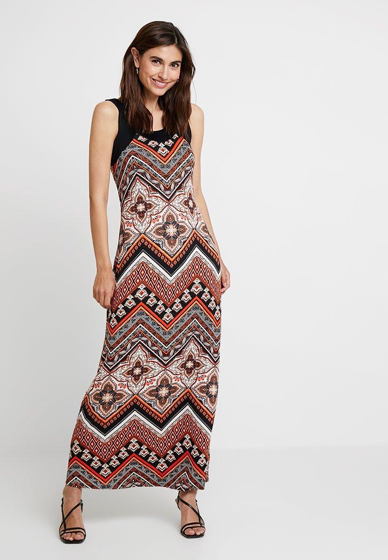 Wallis - MANTRA TILE BLOCKED - Maxi dress - rust