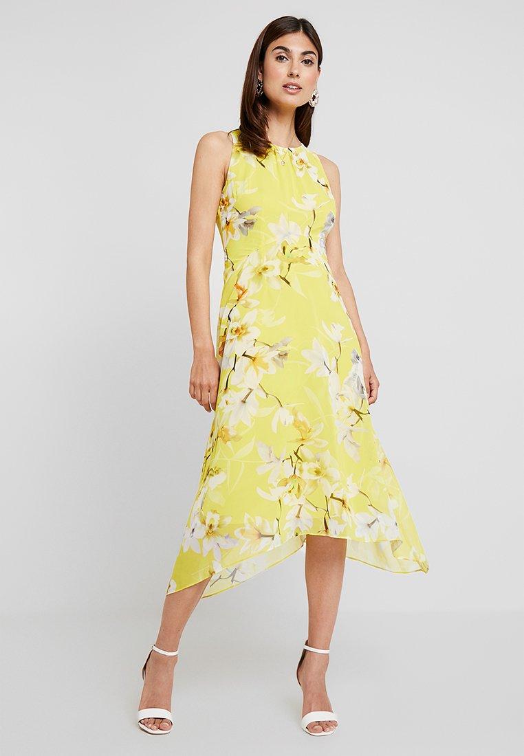 Wallis - ORCHID HANKY HEM DRESS  - Maxi-jurk - yellow