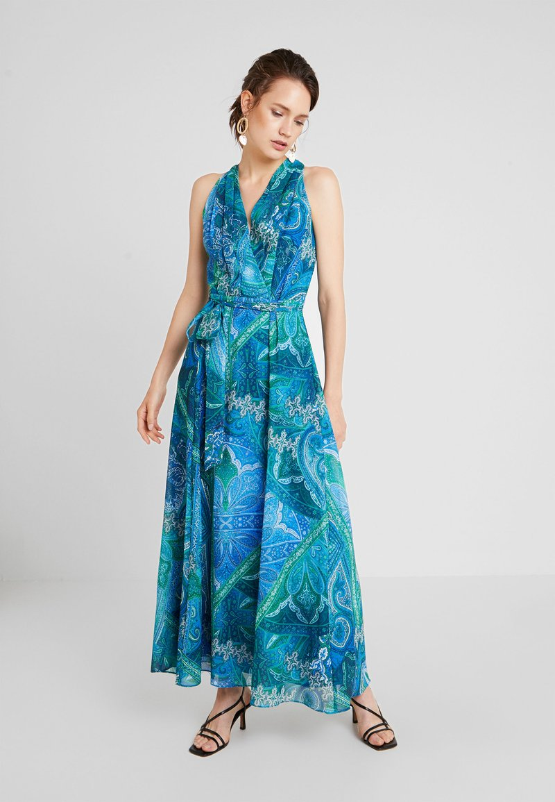 Wallis - MERMAID PAISLEY HALTER NECK - Maxikleid - blue